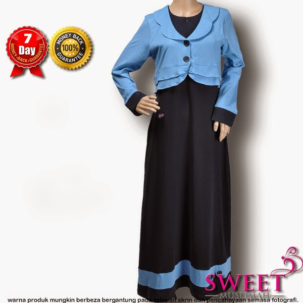 JUBAH COTTON MT100 Biru Tua (KOLEKSI MUTIF) - SOLD OUT
