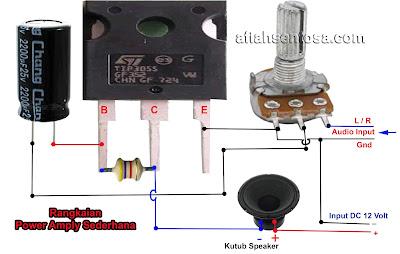 Cara Membuat Power Amplifier Sederhana Menggunakan Satu Transistor Final