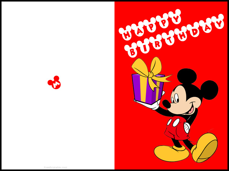 Free printable mickey mouse birthday cards | Luxury ...