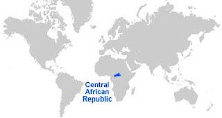 Gambar Peta letak Afrika Tengah