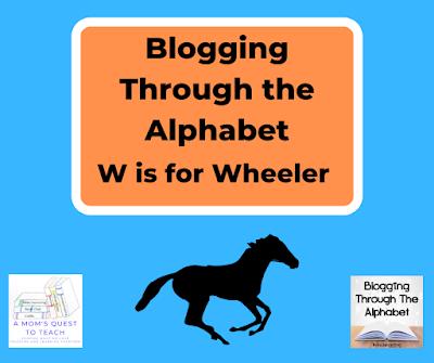 A Mom's Quest to Teach Logo; Blogging Through the Alphabet logo; horse clipart