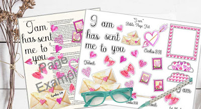 """I Am"" Bible Page Kit from lot95designs on Etsy"