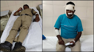 पुलिस पर हुआ जानलेवा हमला, मोहगांव थाना प्रभारी नागपुर रेफर