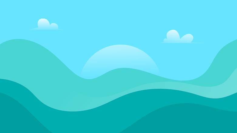 Green field and blue sky mountain landscape minimalist 4k 3840 x 2160 pixels