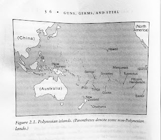 Page 56. Figure 2.1. Polynesian islands. (Parentheses denote some non-Polynesian lands.)