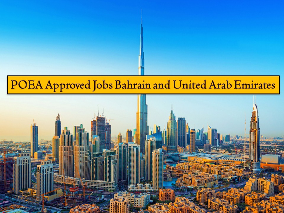 Countries in the Middle East are often top destinations of Overseas Filipino Workers (OFWs). So if you are looking for job opportunities abroad, here are the following jobs orders from Bahrain and the United Arab Emirates you may want to consider for this month of April 2019.  Bahrain is in need of barbers, beauticians, domestic helpers, salesmen, barista, waiter/waitress, babysitter, house boy, and many others. On the other hand, the United Arab Emirates is in need of cleaners, nurses, drivers, engineers, machine operators, and many more! Check below for the complete list of jobs orders from the website of Philippine Overseas Employment Administration (POEA).   Jbsolis.com is NOT a recruitment agency and we are NOT processing nor accepting applications for jobs abroad. All information in this article is taken from the website of POEA — www.poea.gov.ph for general purposes only. Recruitment agencies are being linked to each job order so that interested applicants may know where to coordinate and apply for their desired position.  Interested applicant may double-check the job orders as well as the license of the hiring recruitment agencies in the POEA website to make sure everything is legal.