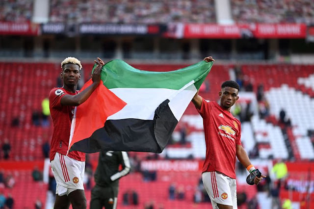 Manchester United manager Ole Gunnar Solskjaer comments on Paul Pogba and Amad carrying Palestinian flag