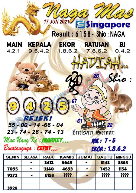 Syair Naga Mas SGP Kamis 17 Juni 2021