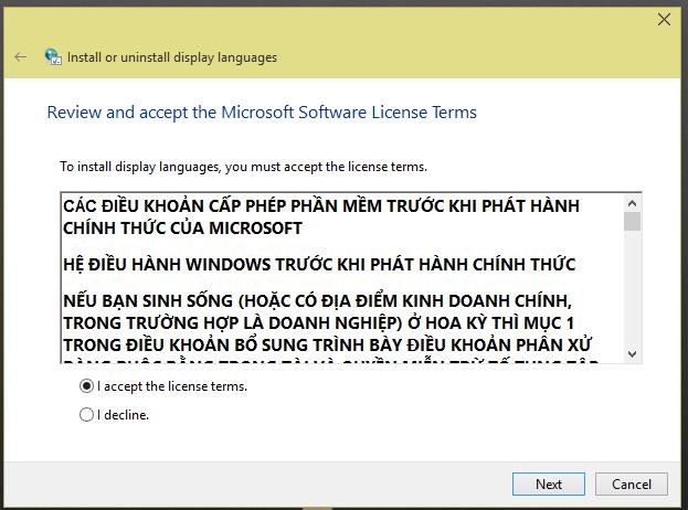 windows 10 vietnamese language pack