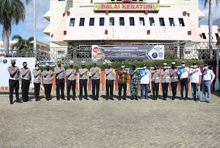 Cegah Meluasnya Penyebaran Covid-19, Pemprov Lampung Lakukan Ikar Bersama Komunitas Kendaraan untuk Tidak Mudik Lebaran