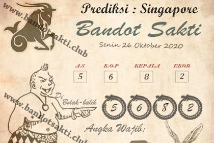 Syair Bandot Sakti Togel Singapore Senin 26 Oktober 2020