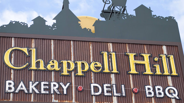 Sign for Chappell Hill bakery in Texas