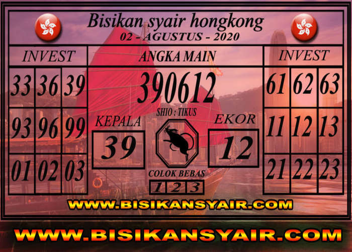 Kode syair Hongkong Minggu 2 Agustus 2020 235