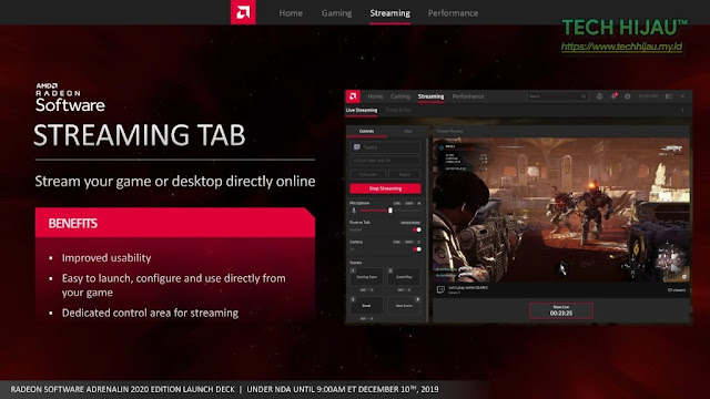 Tech Hijau™ — AMD Radeon Software Adrenalin 2020 Edition - Streaming Tab