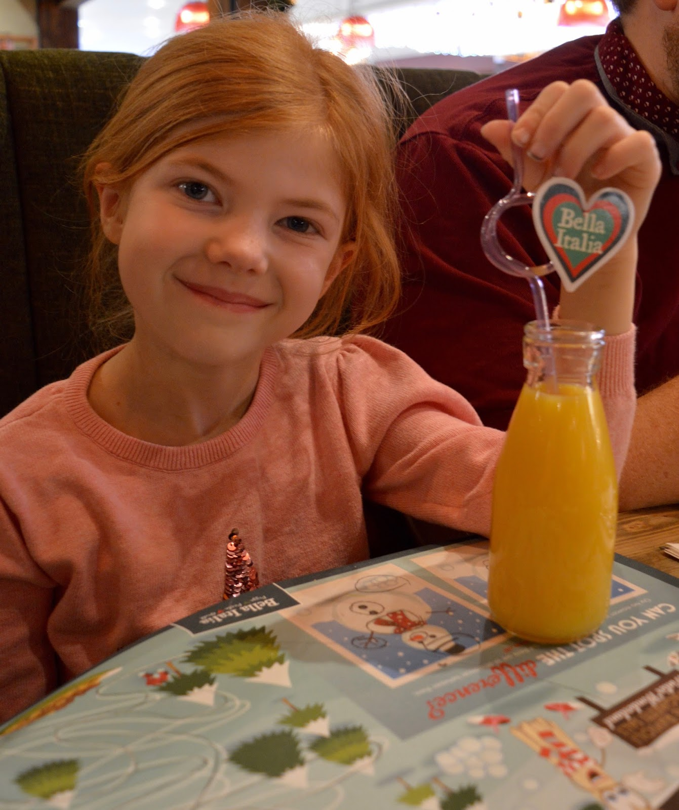 Bella Italia at intu Eldon Square Newcastle | Children's Menu Review - kids juice