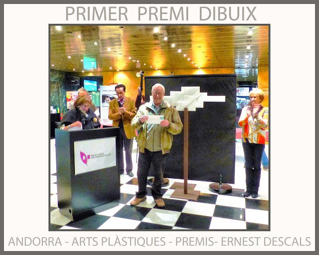 ANDORRA-PREMIS-CONCURS-ARTS-PLÀSTIQUES-2015-PRIMER PREMI-DIBUIX-ARTISTA-PINTOR-ERNEST DESCALS-
