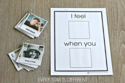 I feel... when you... Picture Prompt with Cards