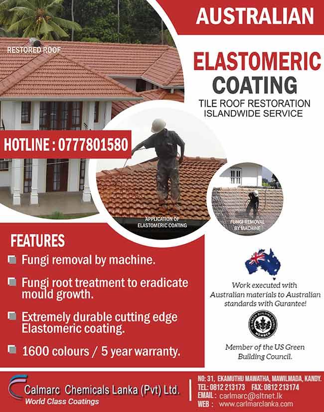 Tile Roof Restoration - Elastomeric Coating.