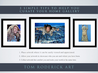 Curate your home gallery tips by Tom Roderick Boulder artist