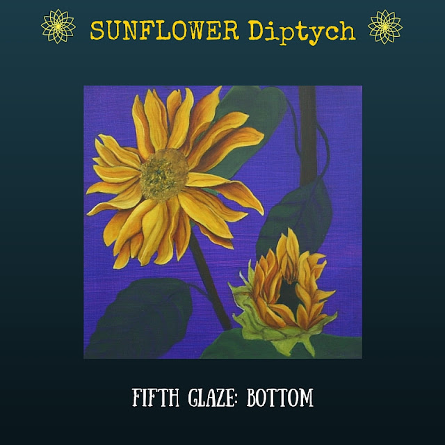 Fifth color glaze Bottom Sunflower