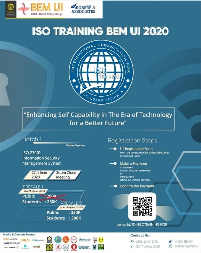 ISO TRAINING BEM UI 2020