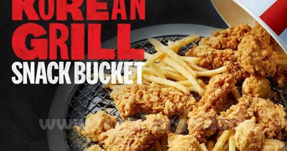 Promo KFC Korean Grill Paket Snack Bucket Mulai Rp 60.909