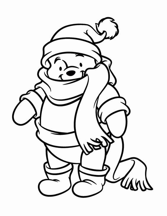 Tranh cho bé tô màu gấu Pooh 28