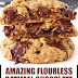Amazing Flourless Oatmeal Chocolate Chip Cookies #flourless #cookies