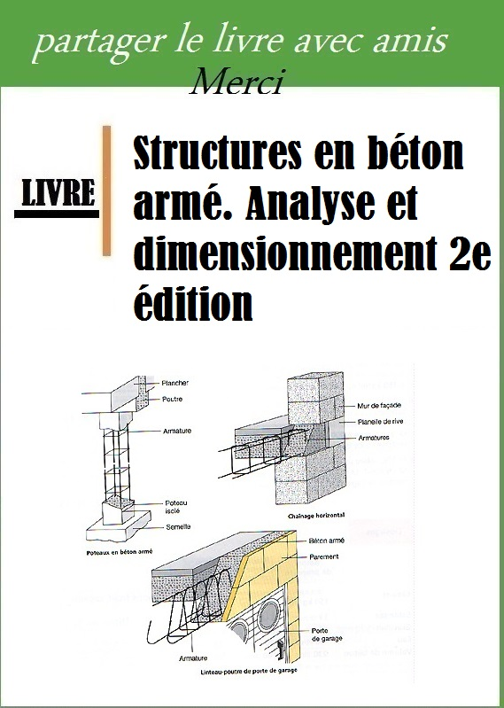Structures en b ton arm analyse et dimensionnement 2e dition book batiment architecture for Cours de construction pdf