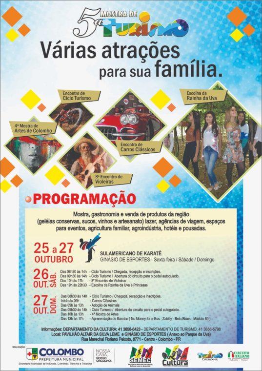 Começa hoje a 5ª Mostra de Turismo em Colombo