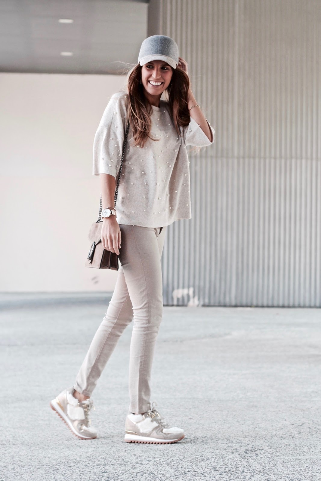 total look en beige