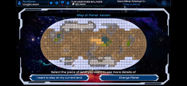 Mengganti Land dan Planet Alien Worlds
