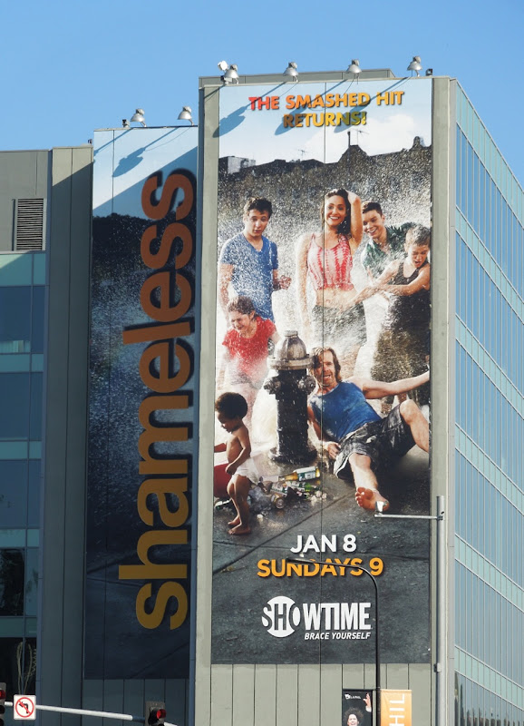 Giant Shameless season 2 TV billboard