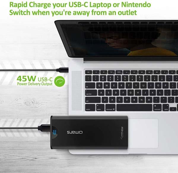 Une batterie externe de secours capable de recharger un PC portable
