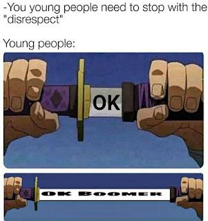 OK Boomer Meme by @_random_memes_666 on Instagram