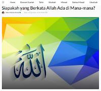 Siapakah yang Berkata Allah Ada di Mana-mana? - Artikel Kajian Islam Tarakan