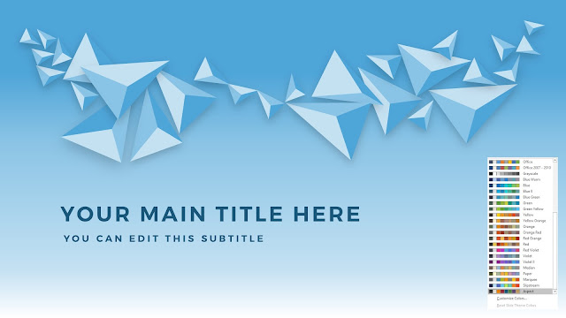 Free PowerPoint Abstract Polygons Title Template with Office Aspect Color Scheme