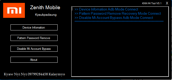 Xiaomi Pattern Password Account Bypass Tool -google drive link