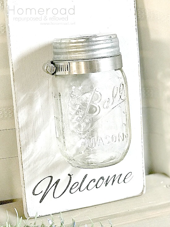 How to Make a quick and easy Mason Jar Wall Vase