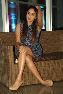 Actress Dhanya Balakrishna Stills in Floral Short Dress at Savitri Audio Launch 0036