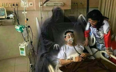 Meme Setya Novanto di Rumah Sakit Malaikat Pencabut Nyawa