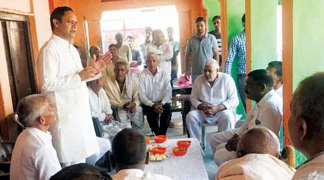 BJP leader Sohanpal Singh Chaukar campaigned in public in the villages of Vidalila assembly segment