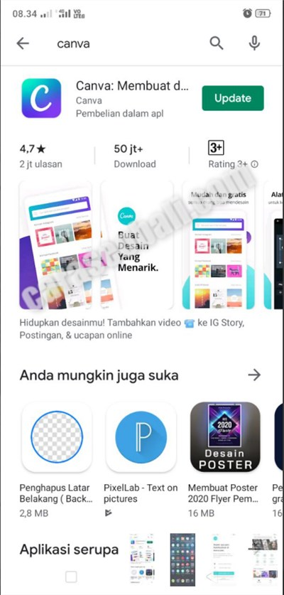 download canva app di play store