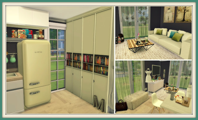 Sims 4 - Kitchen  Living Room Ii - Dinha-6517