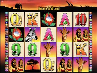 50 Lions Poker Slot