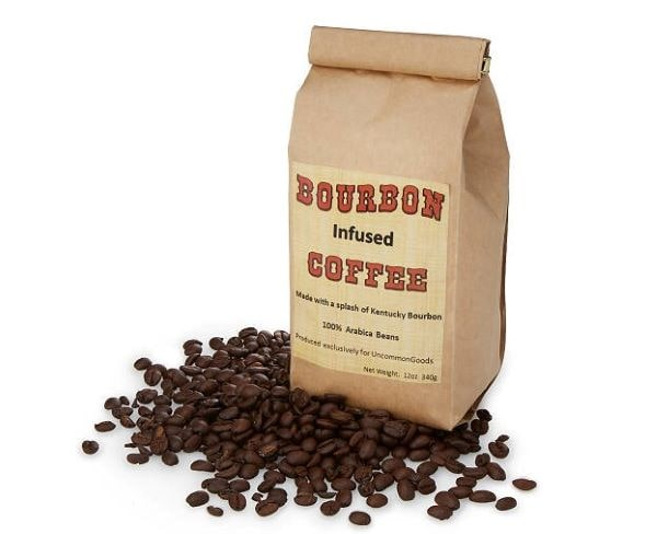 Bourbon infused coffee from Uncommon Goods