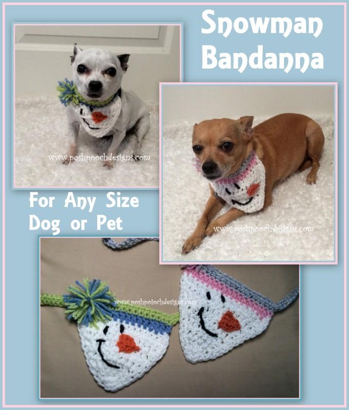 Snowman Pet Bandana