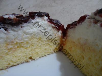 Ciasto z frużeliną wiśniową