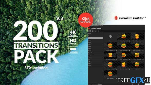Videohive - Transitions Pack V3