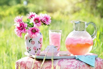 summertime lemonade and flowers